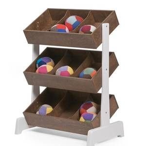 Etagère de rangements pour jouets - noyer - oeuf