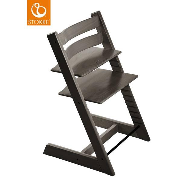 """Chaise haute Tripp Trapp en bois """"Gris Brume"""""""