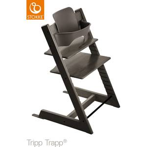 Chaise haute  enfant évolutif tripp trapp en bois Gris Brume Stokke
