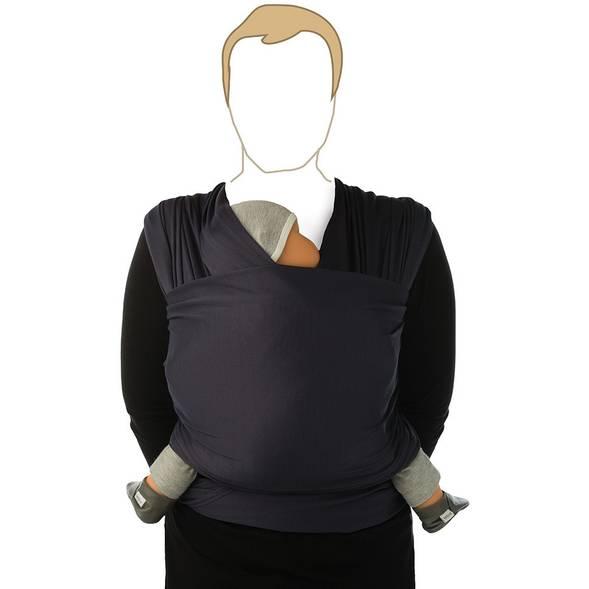 "Echarpe de portage ""tricot slen"" ORGANIC - Bleu Marine - babylonia"