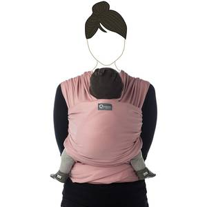 "Echarpe de portage Tricot-Slen Organic en coton bio ""Rose Doux"" Babylonia"