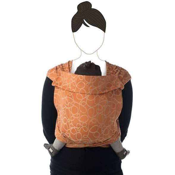 "Echarpe de portage BB Tai en coton bio ""Caramel"" Babylonia"