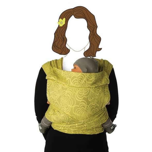 "Echarpe de portage BB Tai en coton bio ""Marigold"""
