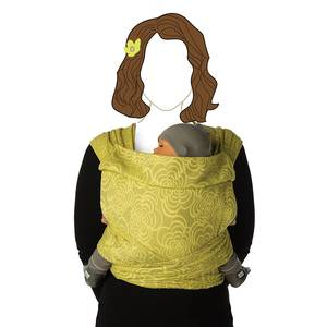 Echarpe de portage bb tai black marigold - babylonia -