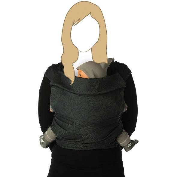 "Echarpe de portage BB Tai en coton bio ""Moonshadow"""