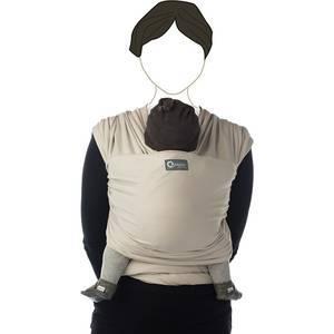 "Echarpe de portage ""tricot slen"" - Sable - babylonia"