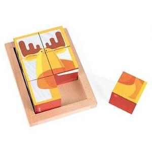 Barquette 6 cubes forêt zigolos - janod -