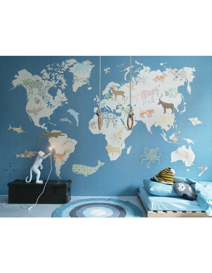 papier peint mappemonde 1 400x300 cm inke dr m design. Black Bedroom Furniture Sets. Home Design Ideas