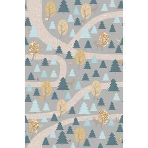 "Papier peint 200x300 ""Promenade en Forêt "" - Gris - inke -"