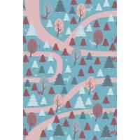 """Papier peint 200x300 """"Promenade en Forêt """" - rouge - inke -"""