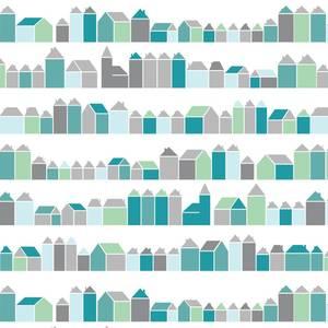 Huisjes blauw - inke -