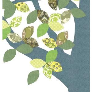 "Arbre en papier vintage 1 ""September 216"" - 260x200 - Inke"