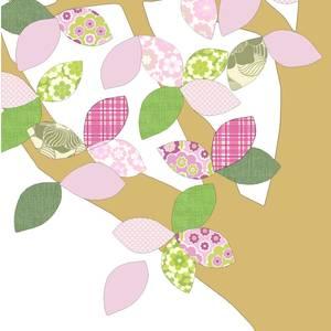 """Arbre en papier vintage 1 """"April 075"""" - 260x200 - Inke"""