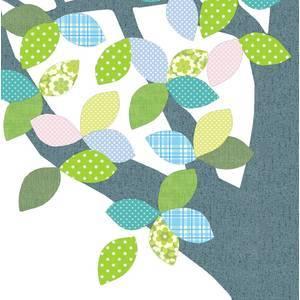 """Arbre en papier vintage 1 """"April 216"""" - 260x200 - Inke"""