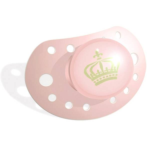 "Tétine orthodontique en silicone ""Royal Pink"""