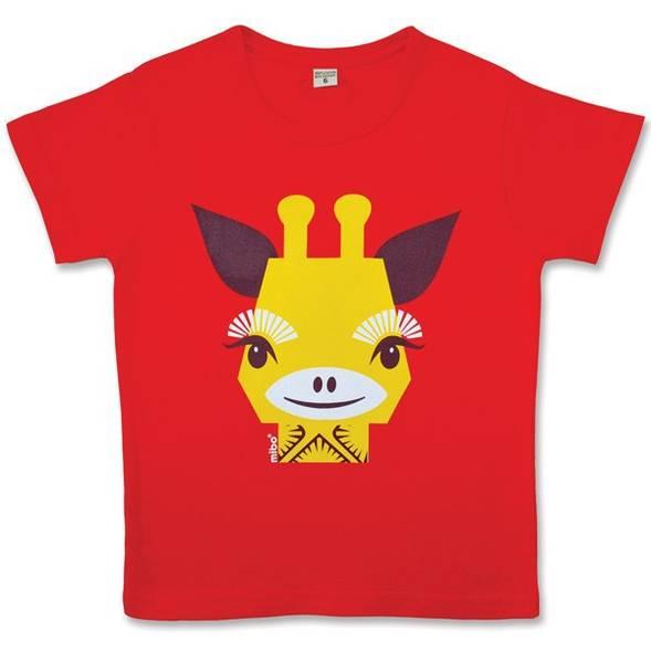 """T-shirt manches courtes en coton bio """"Mibo Girafe"""""""