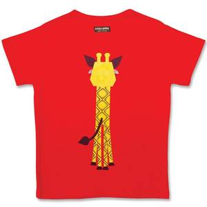 T-shirt enfant manches courtes en coton bio Girafe coq en pâte