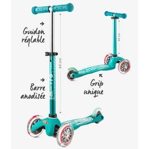 "Trottinette enfant 3 roues Mini Micro Deluxe ""Aqua anodisé"" micro"