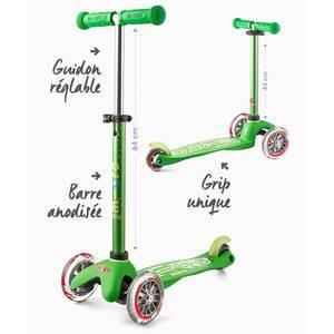 """Trottinette enfant 3 roues Mini Micro Deluxe """"Vert anodisé"""" micro"""