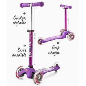 """Trottinette enfant 3 roues Mini Micro Deluxe """"Violet anodisé"""" micro"""