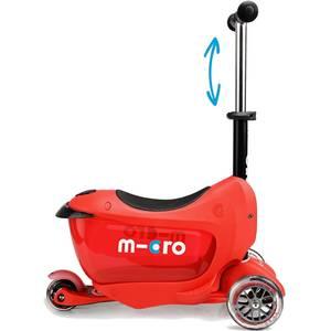 Trottinette Porteur enfant Mini 2Go deluxe plus Rouge - micro