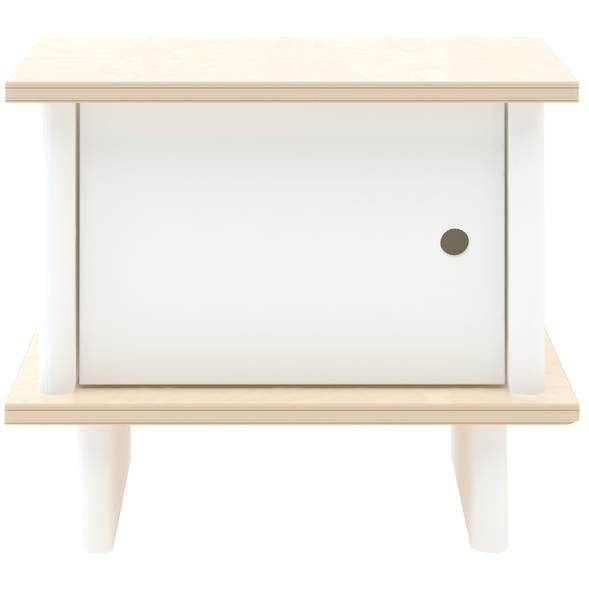 "Table de chevet ML en bois ""Blanc/Bouleau"""