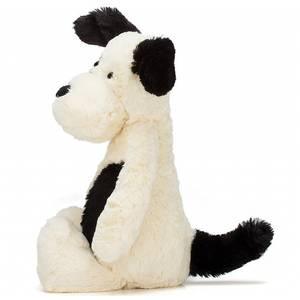Bashful chien noir et blanc