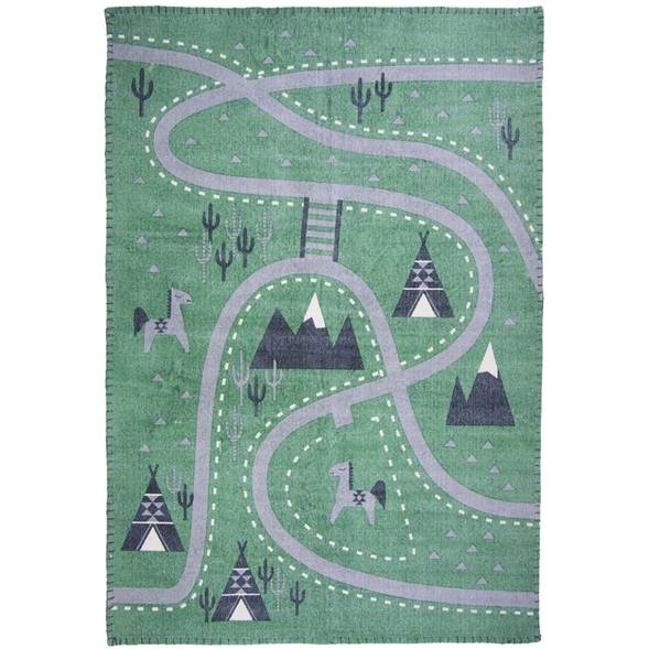 "Tapis en coton stonewashed ""Little Western"" (100 x 140 cm)"