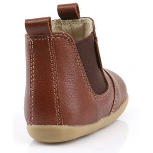 "Bottines bébé en cuir Step Up ""Jodhpur"" Toffee Bobux"