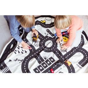 "Sac rangement jouets /Tapis de jeu enfant ""Circuit"" Play and go"