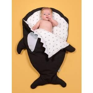 """Chancelière bébé naissance Hiver Orque """"Noir / Pingouins"""" Baby Bites"""