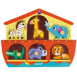 """Puzzle bébé en bois """"Arche de Noé"""" janod"""