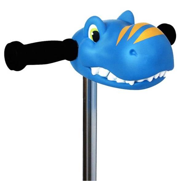 """Tête de dinosaure pour trottinette """"Bleu"""""""