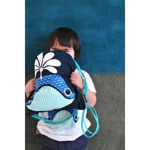 Rusksack enfant en coton bio baleine Coq en Pate