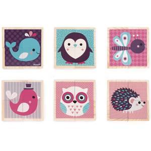 """Jouet en bois """"Mes Premiers Cubes Bébés animaux"""" (1 an-3 ans) Janod"""