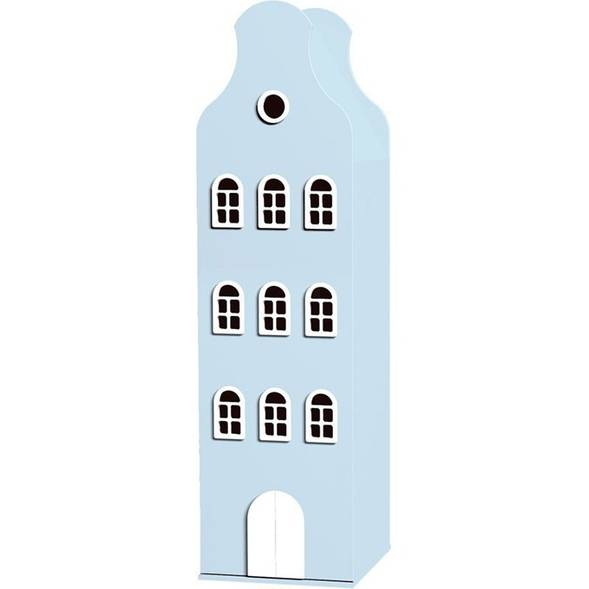 Armoire Amsterdam Kast Van Een Huis avec toit cloche - Blue Pastel - This is Dutch