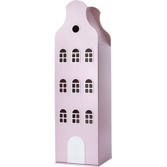 Armoire Amsterdam Kast Van Een Huis avec toit cloche - PInk Pastel - This is Dutch