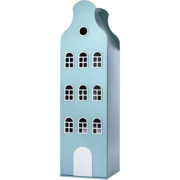 Armoire Amsterdam Kast Van Een Huis avec toit cloche - Sea pastel - This is Dutch