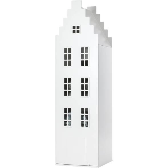 """Armoire Amsterdam Kast Van Een Huis avec toit escalier """"Blanc"""""""