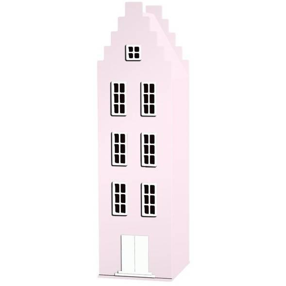 Armoire Amsterdam Kast Van Een Huis avec toit escalier - Pink Pastel - This is Dutch