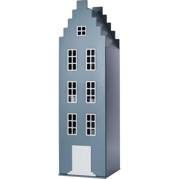 """Armoire Amsterdam Kast Van Een Huis avec toit escalier """"Bleu Pétrole"""""""