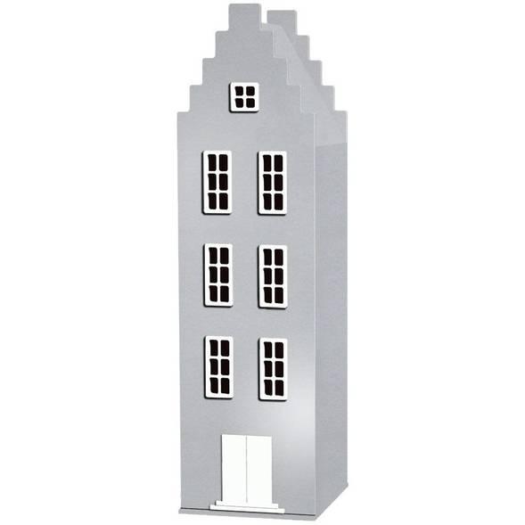 Armoire Amsterdam Kast Van Een Huis avec toit escalier - Silver - This is Dutch