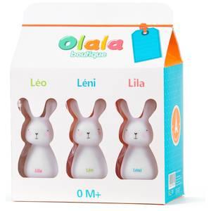 Veilleuse trio de lapins - olala -
