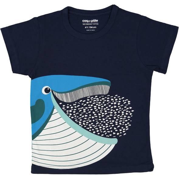 "T-shirt manches courtes en coton bio ""Mibo Baleine"""