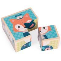 """Jouet en bois """"Mes Premiers Cubes : Portraits de la forêt"""" (1-3 ans)"""