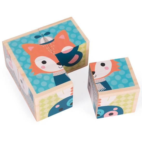 """Mes premiers cubes """"Portraits de la forêt""""  - Janod"""