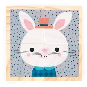 """Jouet en bois """"Mes Premiers Cubes Portraits de la forêt"""" (1 an-3 ans) Janod"""