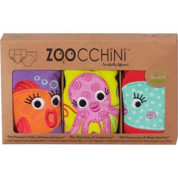 Pack culottes d'apprentissage en coton bio 2/3 ans -Océan - Zoocchini