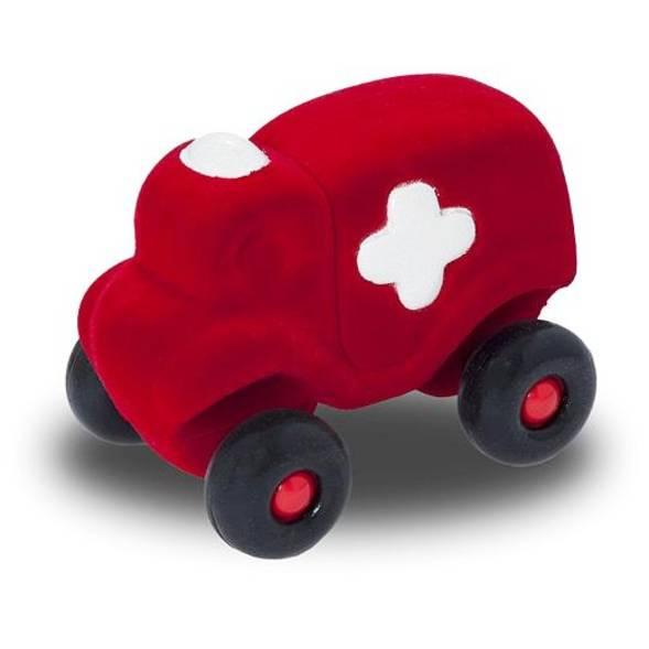 """Camion ambulance en caoutchouc naturel """"Rouge"""" (11 cm)"""