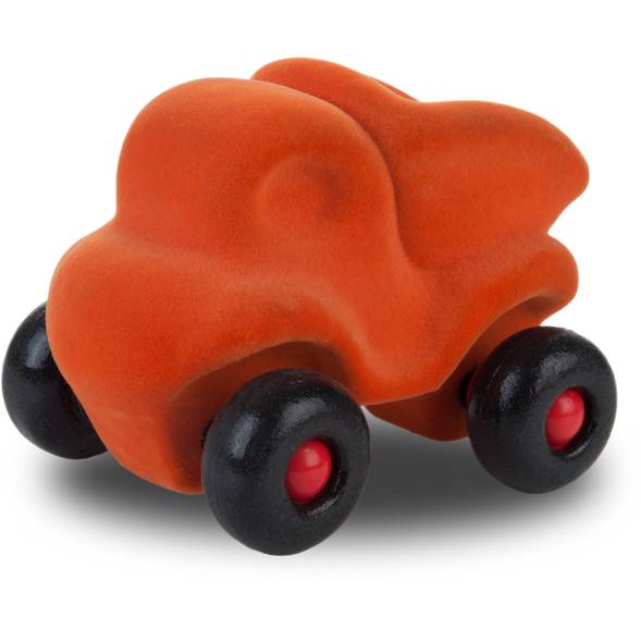 """Camion décharge en caoutchouc naturel """"Orange"""" (11 cm)"""
